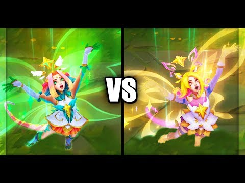 Star Guardian Neeko vs Prestige Star Guardian Neeko Skins Comparison (League of Legends)