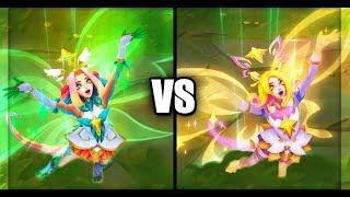 Star Guardian Neeko vs Prestige Star Guardian Neeko Skins Comparison (League of Legends)