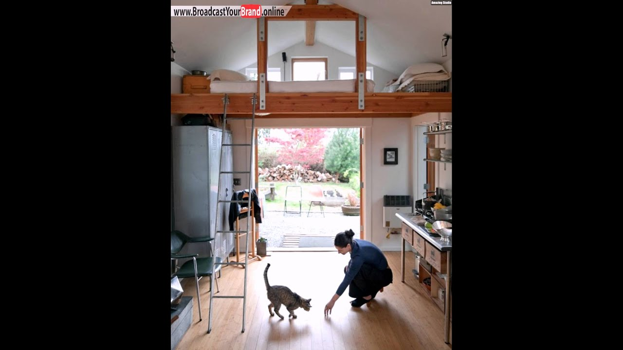 Hochbett design  Hochbett Küche Leiter Landhaus Zugang Garten - YouTube