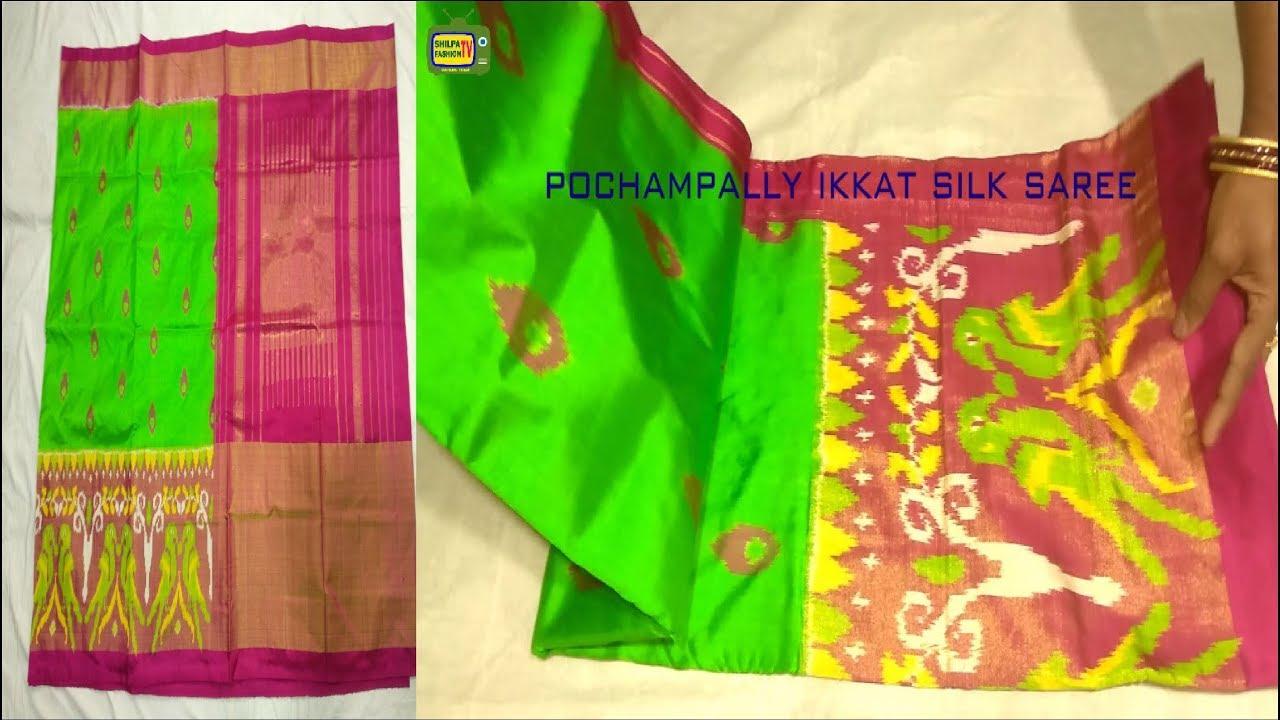 0e1b20baae Unbox of pochampally ikkat pattu sarees || ikkat pattu sarees latest||  shilpa fasion tv