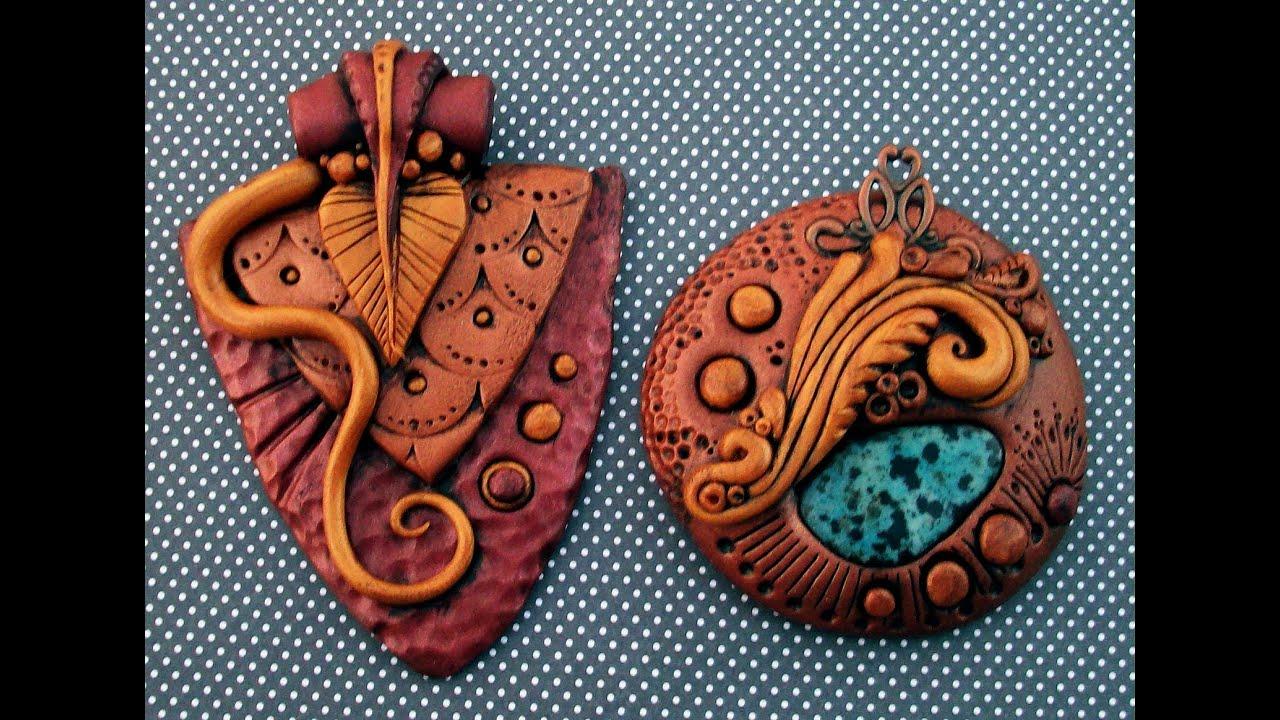 Изделия из глин� �воими ��ками Изделия из полиме�ной