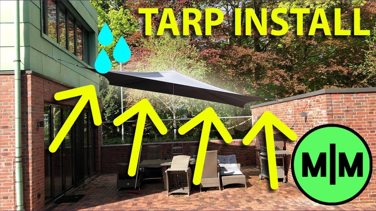 low incline patio tarp waterproof and sunproof