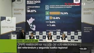Referéndum 2018: ONPE brinda primer reporte de voto electrónico
