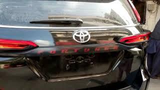 Toyota Fortuner LED Trunk Garnish - Model 2016-2019 SKU : 15303 htt...