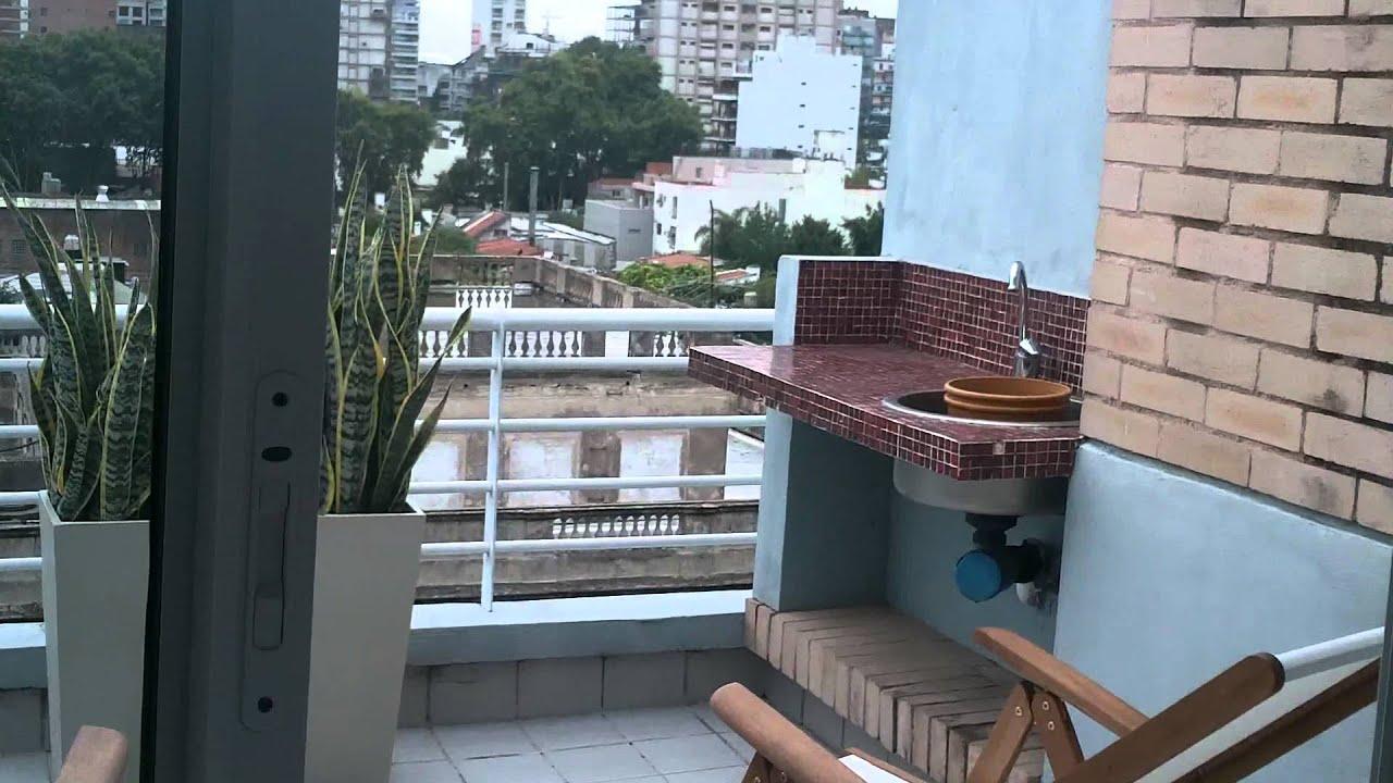 karas propiedades genial monoambiente con balcon terraza y parrilla propia youtube. Black Bedroom Furniture Sets. Home Design Ideas