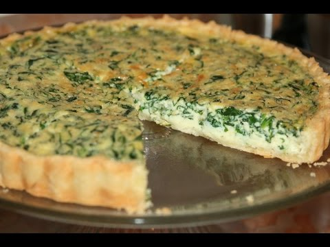 quiche-aux-Épinards---easy-spinach-quiche---كيش-بالسبانخ