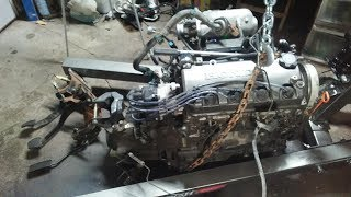 Honda all motor build-Episode 1 Heart Removal on donor car
