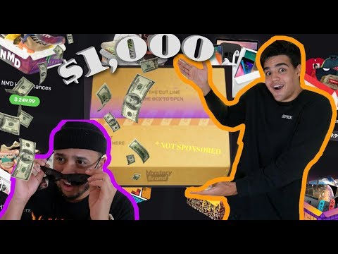 MYSTERY BRAND!? OPENING $1,000 WORTH OF ONLINE MYSTERY BOXES!! * NOT SPONSORED