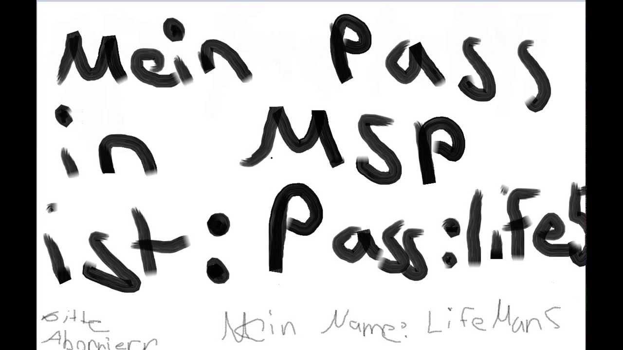 MSP Passwort und Name - YouTube