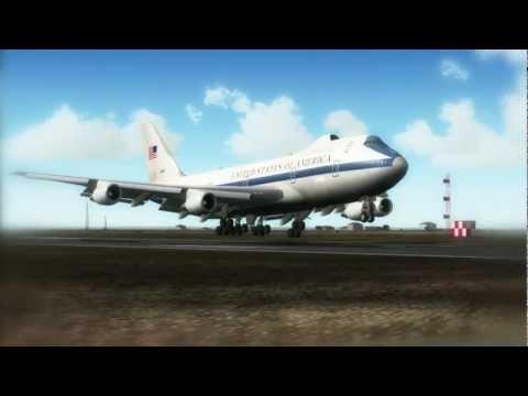 FS2004 Boeing E4B Landing Hartsfield--Jackson Atlanta International Airport