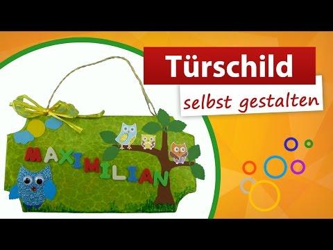 ♥ Türschild selbst gestalten ♥ Kinder Türschild basteln ...