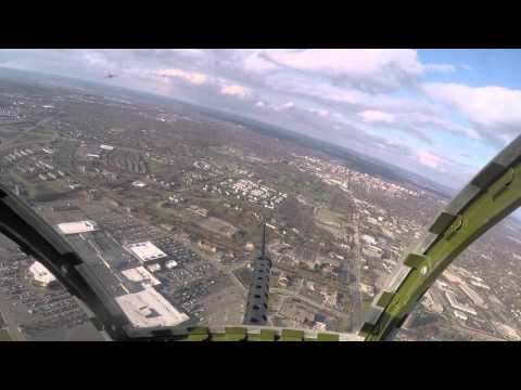 Flying over Ann Arbor, Michigan in a WWII bomber