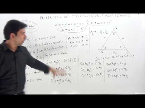 PROPERTIES OF TRIANGLES ( Identities ) part-1 Concept & Logic