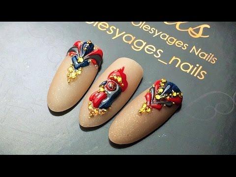 ГОД ПЕТУХА♥Дизайн ногтей в стиле нового 2017 года♥GELMART & Olesyages Nails