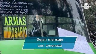 Los hechos ocurrieron en la calle de Rafael Buelna, esquina con Xochimilcas de la Colonia Tezozomoc, en donde permanecían los vehículos