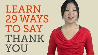 How to Say Thank You in 29 Languages