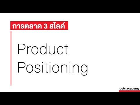 เข้าใจเรื่อง Product Positioning