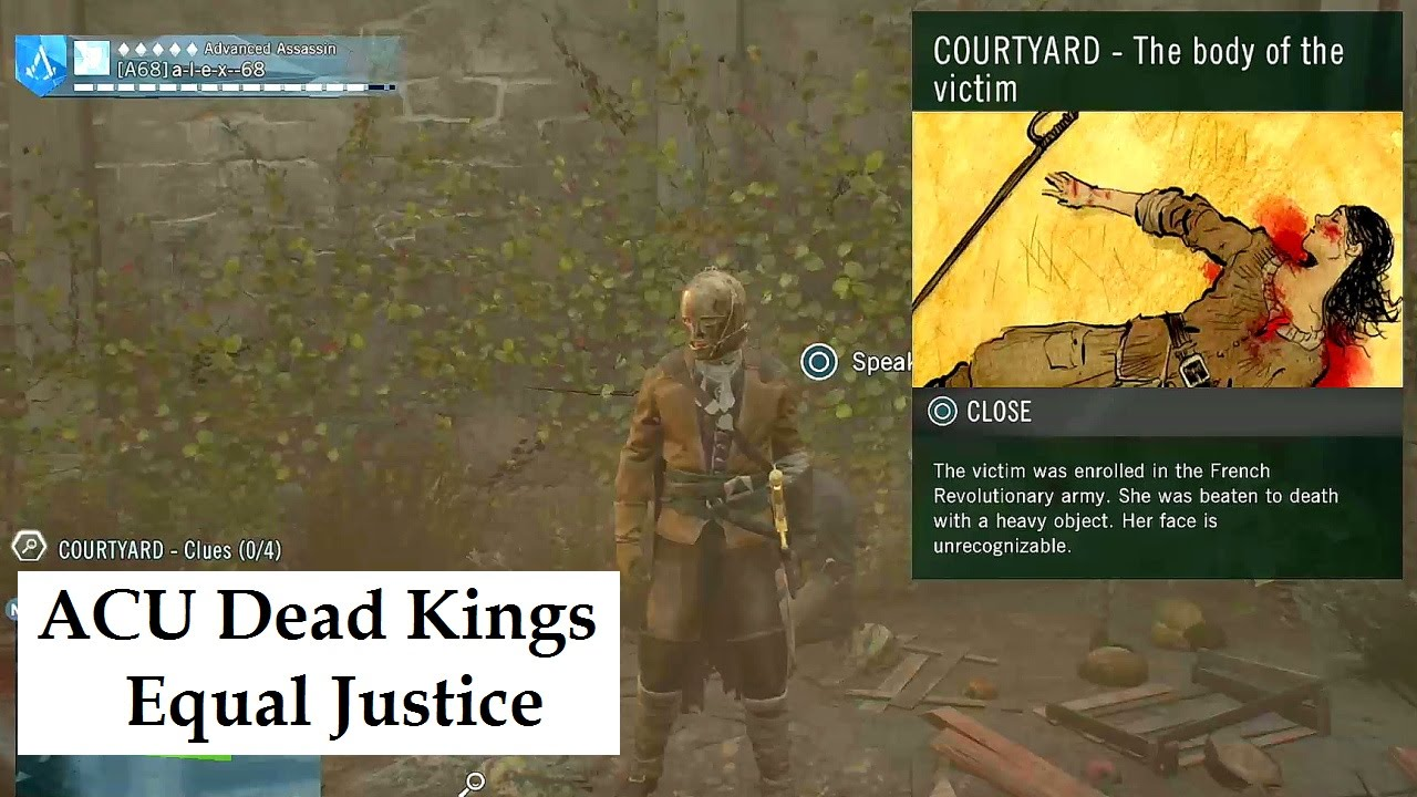 Assassin's Creed Unity Dead Kings DLC Equal Justice murder ...