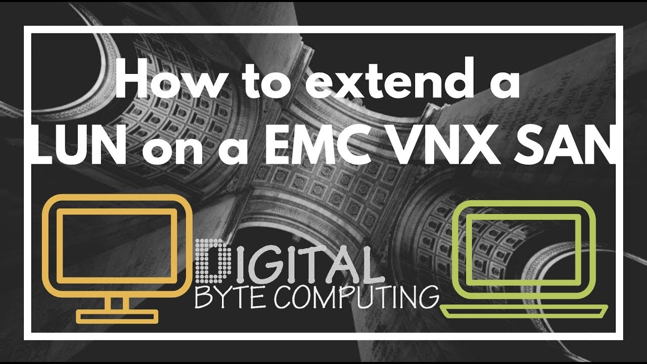 How to extend a LUN on a EMC VNX SAN - via Unisphere | VIDEO TUTORIAL