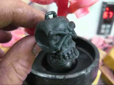 wax carved skull