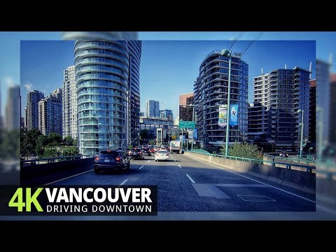 Vancouver 4K60fps - Driving Downtown - British Columbia, Canada