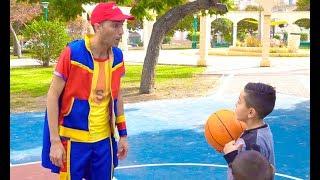 عمو صابر يلعب كرة السلة  - amo saber playing basket ball