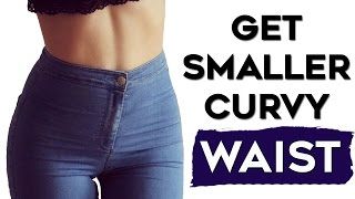 How To Get A Smaller Waist FAST | 4 Exercises To SCULPT A Smaller Waist(Love Handles Melter)