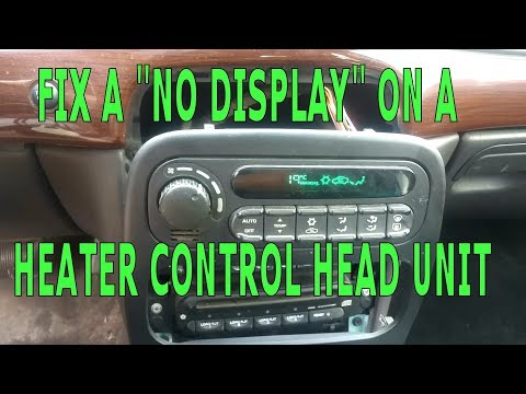 "DIY – Car Heater AC  / Climate Control ""No Display"" Fix CHRYSLER"