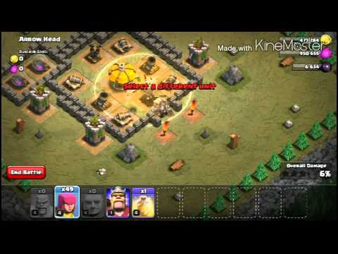 CLASH OF CLANS | SINGLE PLAYER MAPS | MAP #28 | Arrow Head