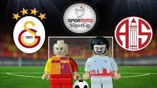 Galatasaray Antalyaspor Maç Özeti 3-0 12.02.2018  (LEGO SÜPER LİG MAÇ ÖZETLERİ)/ Lego Football Goals
