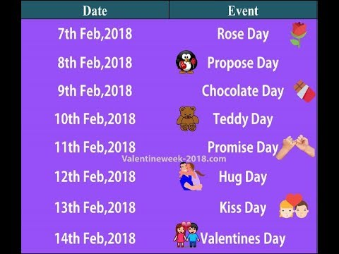 Valentine Week List 2018 Date Schedule Full List 7 Feb To 21 Feb