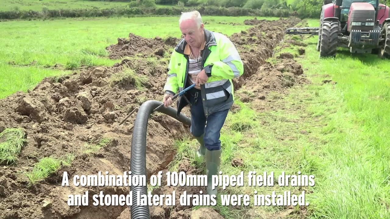 Draining A Heavy Sloped Field In Co Meath Youtube