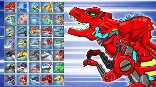 Dino Robot Battle Arena: Tyranno Red (Assembly + Fights) | Eftsei Gaming