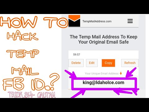 HOW TO HACK TEMP MAIL FB ID ?