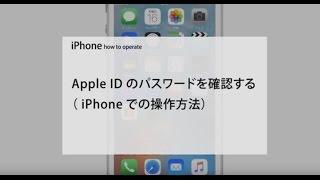Apple ID パスワードを確認する( iPhone での操作方法)