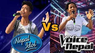 Nepal idol Contestant VS The Voice of Nepal Contestant | Funny Guff Video