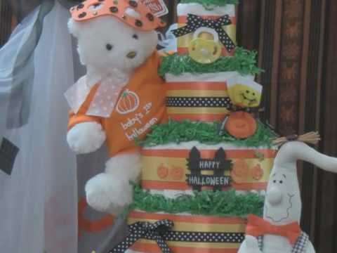 halloween diaper cake