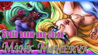 Animaniancs Minerva Mink Speed coloring drawing