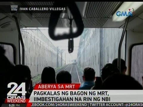 24 Oras: Pagkalas ng bagon ng MRT, iimbestigahan na rin ng NBI