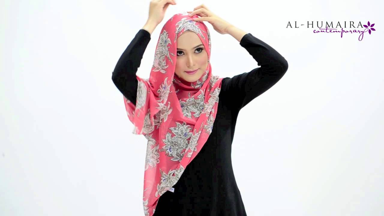 Aufaa instant shawl styling tutorial by al-humaira contemporary.