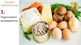 🔵 Салат «Мимоза» | Классический рецепт | Как приготовить салат мимоза. Быстрый рецепт салата мимоза