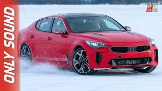 New kia stinger 2017 - first snow test drive only sound