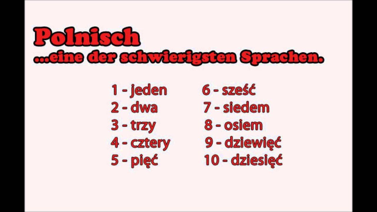 Polnisch lernen: Zahlen 1 - 10 - YouTube