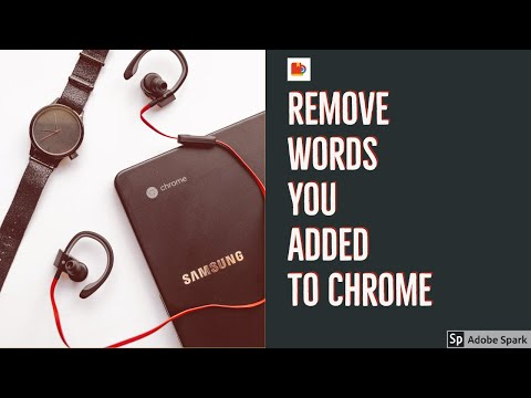 Remove Words from Chrome's User Dictionary