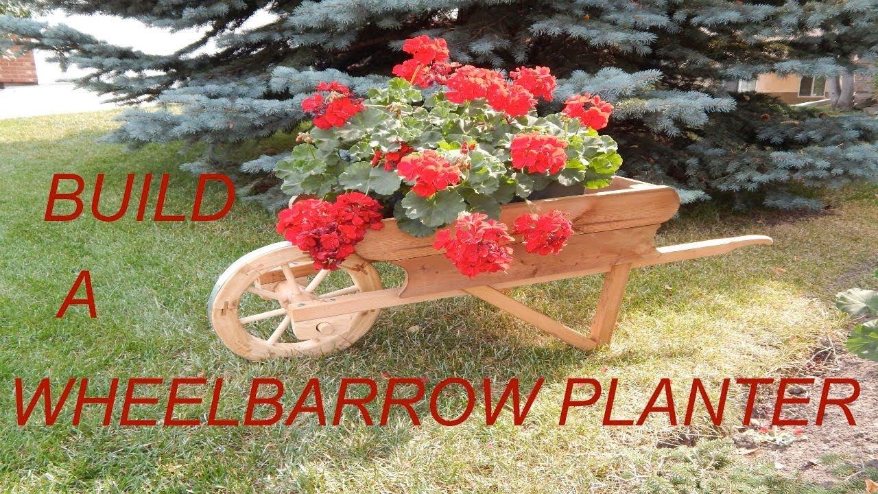 Wheelbarrow Planter Youtube