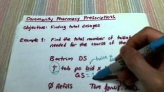 Community Pharmacy Prescriptions I: Basic QS Calculations
