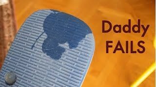 Baby licks dad's sandals - Paternity Leave Fails
