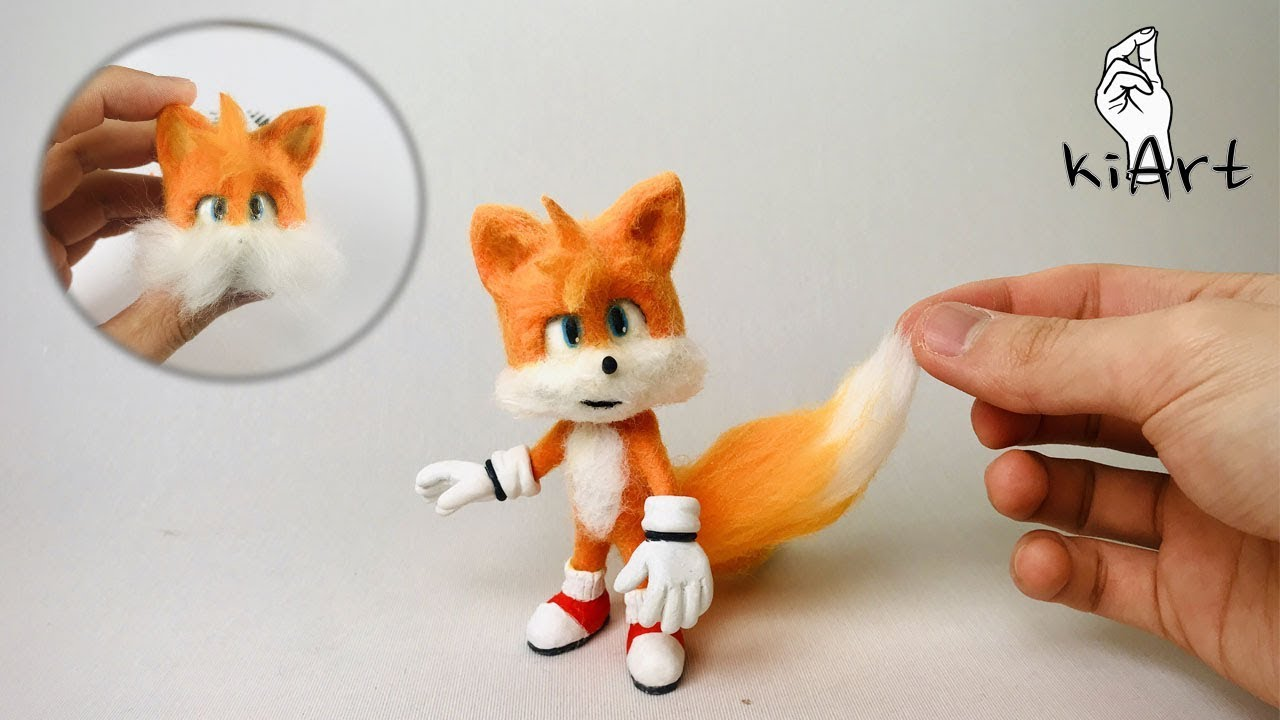 Making Tails With Clay Sonic The Hedgehog Movie Original Sculpey Kiart Kia Youtube