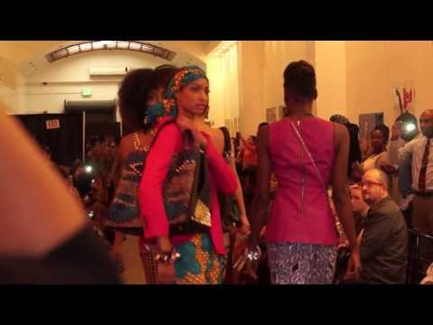 Final Walk for 2 African Girls at Africa Fashion Week LA