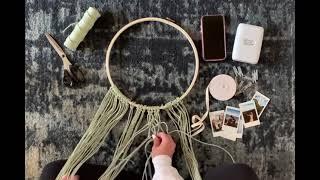 הכנת מתלה מקרמה לקיר עם תמונות אינסטקס - DIY